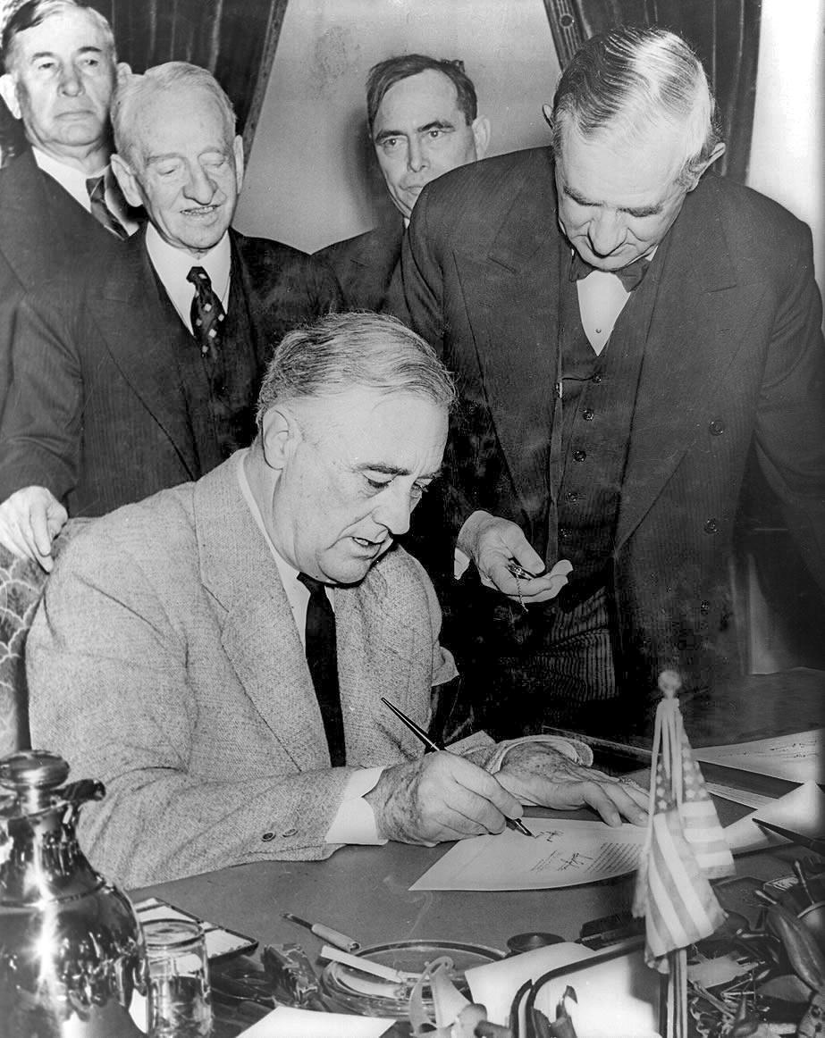 Franklin Roosevelt,__declaration de guerre