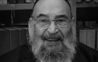 e grand-rabbin René-Samuel Sirat en janvier 2019