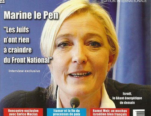 MARINE LE PEN, LE RASSEMBLEMENT NATIONAL ET LES JUIFS